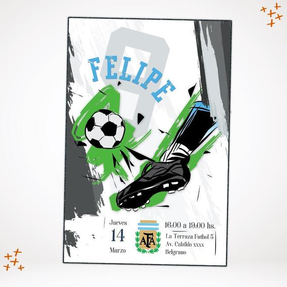 Invitacion Imprimible Futbol - Equipo A Elección