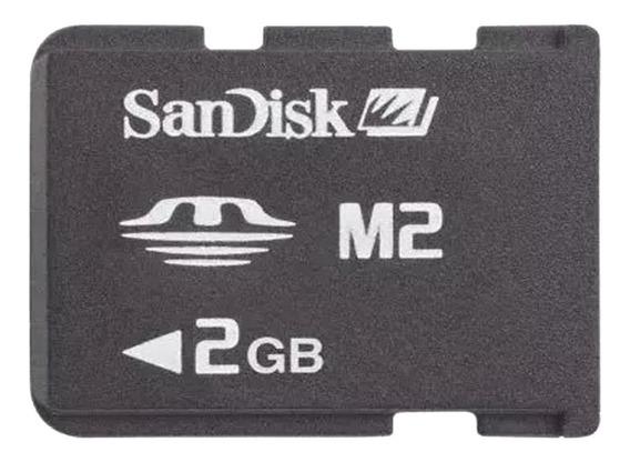Cartão Micro M2 2gb Memory Stick Sandisk Frete Gratis