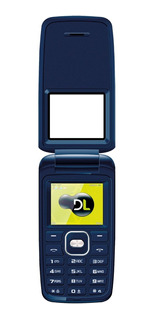 Telefone Celular Idosos Dl Yc-335 Azul 2 Chips Fm Câmera