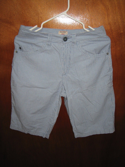 Bermuda Short Rayas Blue Side Talla 29 Original Importado