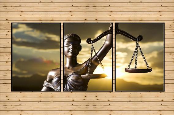 Conjunto Com Quadros Deusa Da Justiça Escritório Advocacia