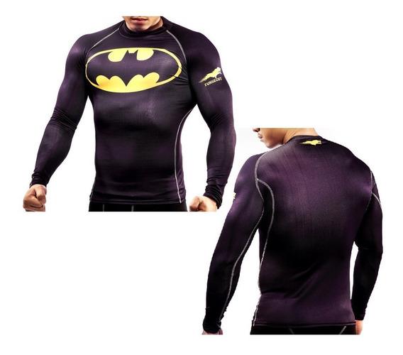 Camisa Batman Classico Segunda Pele Uv Rashguard Manga Longa