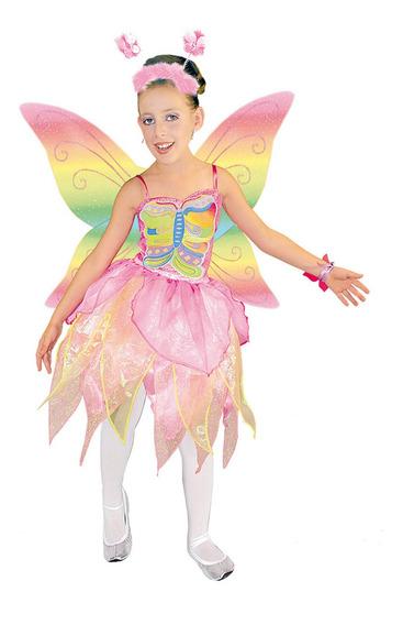 Disfraz Princesa Arcoiris Carnavalito Niñas Traje Mariposa