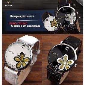 Relógio Florido Feminino Yazole (victor Imported)