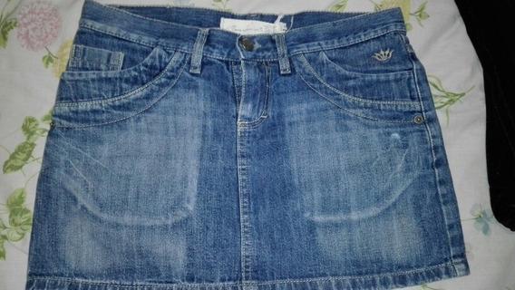 Minifalda De Jean Como Quieres Que Te Quiera Talle 24