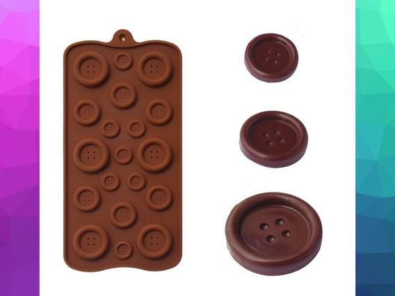 Forma De Silicone Botão:chocolate,pasta Americana, Biscuit,