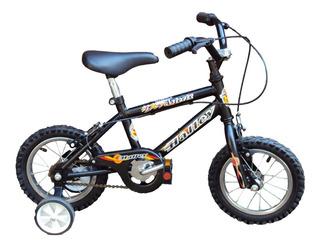 Bici Rod. 12 Acero Rueda C/rayos Y Cubierta C/cámara V/d