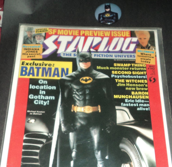 Batman O Filme Michael Keaton Starlog Magazine Broche Brinde