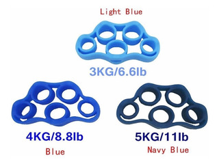 Kit Com 3 Finger Resistance Band 3,4 E 5 Kg Handgrip