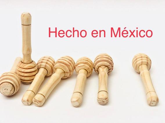 50 Palitas / Cucharita Mieleras Madera 8cm. X 2cm Artesanal
