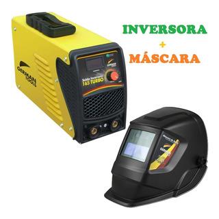 Maquina Inversora De Solda 165a 220v + Máscara Automática