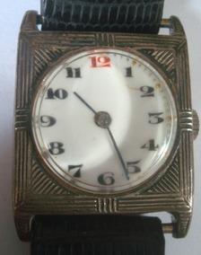 Relógio ¿art Deco¿, Década De 30 Em Prata, Medindo 3,5 X 2,5