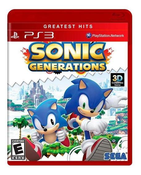 Sonic Generations Ps3 Mídia Física Novo Lacrado