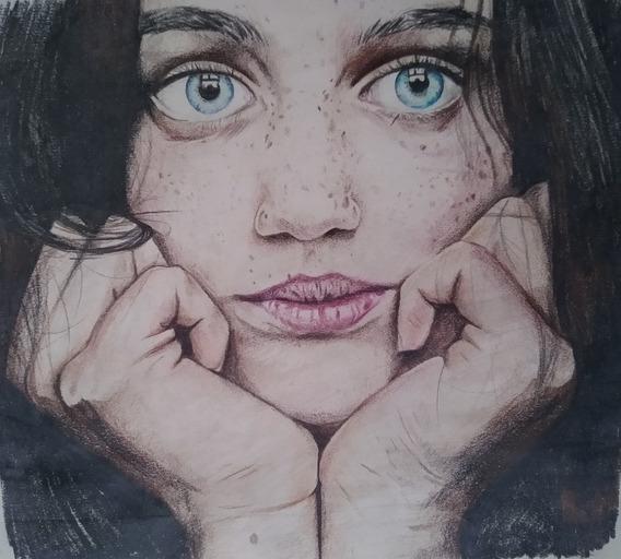 Dibujos De Retratos,manos,cuerpo Entero, Paisajes Etc.