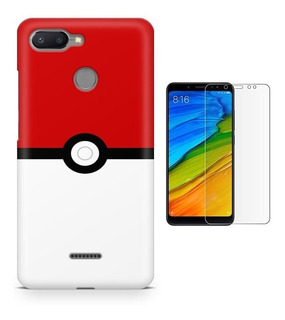 Capa Xiaomi Redmi 6 Pokémon Pokeball + Pel Vidro(bd02)