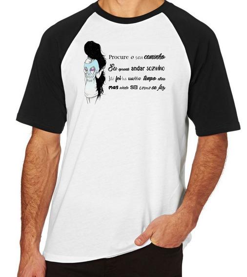 Camiseta Blusa Camisa Raglan Procure Seu Caminho Guria Menin