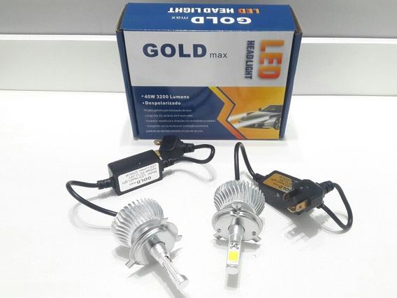 Par Lampada Super Led H4 6000k 12v 24v 32w 40w 3200lumens