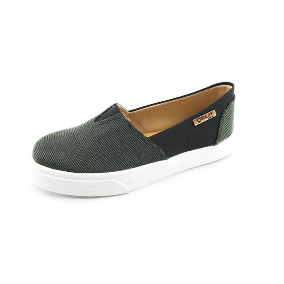 Tênis Slip On Quality Shoes Feminino 002 Multicolor Preto/pr