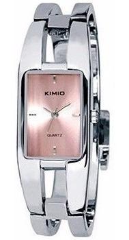 Relógio Feminino Retangular Casual Kimio Kw1601 Prata Rosa