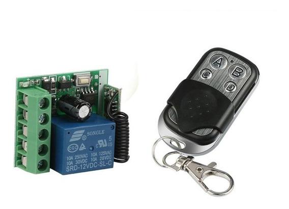 Modulo Relé Rf 433mhz 1ch 12v + Controle Remoto Rf