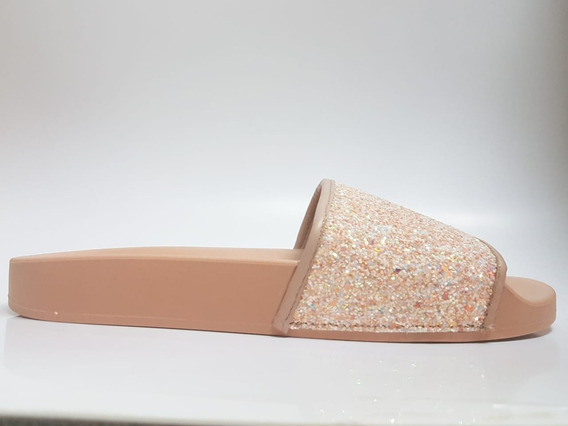 Chinelo Feminino Slide Glitter Moleca - 5414107