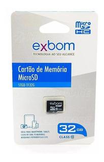 Cartão De Memória Micro Sd 32gb Class 10 Memory Card Exbom