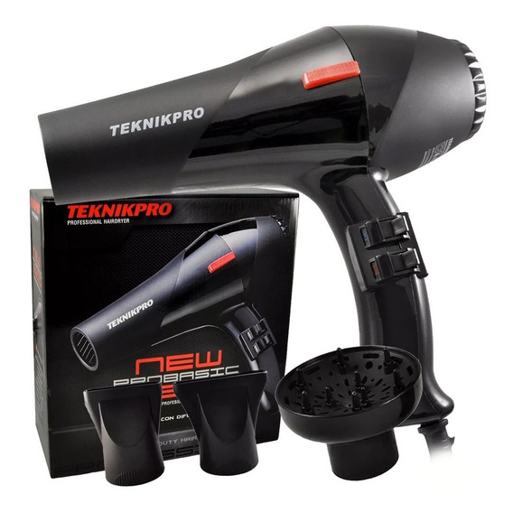 Secador De Pelo Profesional Teknikpro New Pro Basic 2600