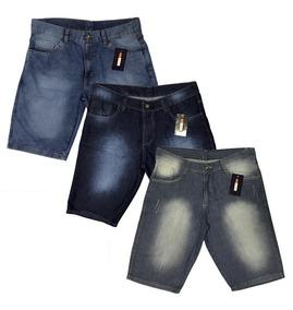 Kit 4 Bermudas Jeans Lycra + 2 Calças Jeans Skinny Lycra
