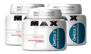 3x Omega 3 Óleo De Peixe 90caps Meg3 - Max Titanium
