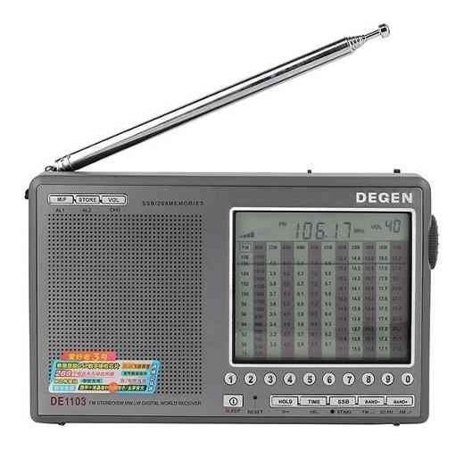 Rádio Degen De1103 Am Fm Stéreo Sw Lw Ssb Dx Luz Lcd
