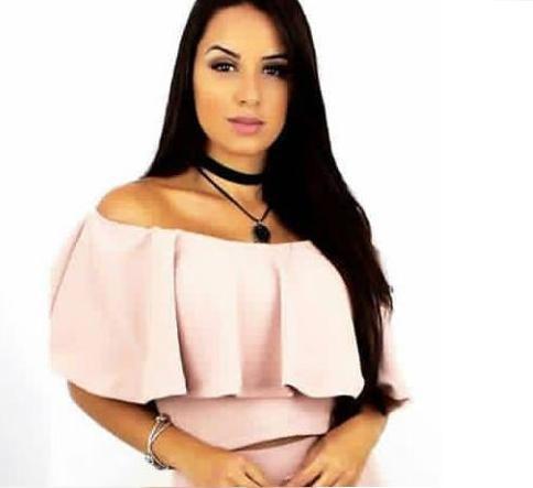 Blusa Femina Cropped Babado Blogueira P M G