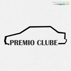 Kit 3x Adesivo Clube Do Premio Carro Personalizado 22cm A236