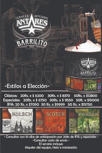 Imagen 1 de 7 de Barrilito Cerveza Antares Zona Oeste - Sur - Norte - Caba