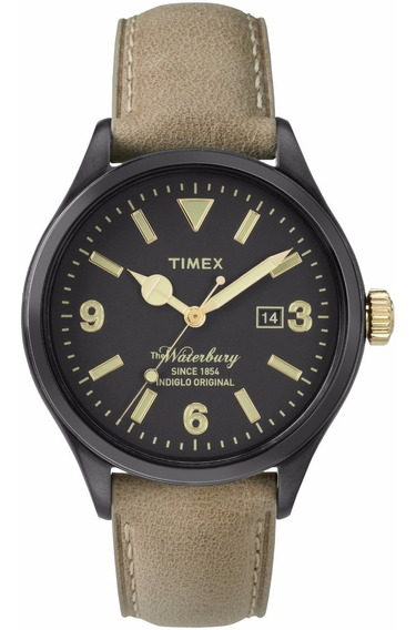 Reloj Timex Waterbury Tw2p74900 Piel Café/negro De Caballero