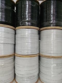 Cable Coaxial Rg6 Blanco Rollo 305 Metros Al 90%