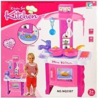 Cocina Para Niña Con 11 Accesorios Juguete Ropa Dama