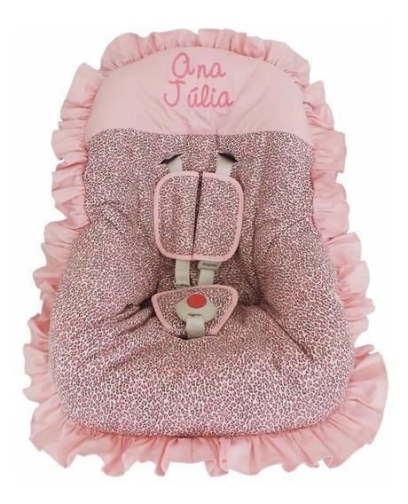 Capa Para Bebê Conforto Personalizado Rosa