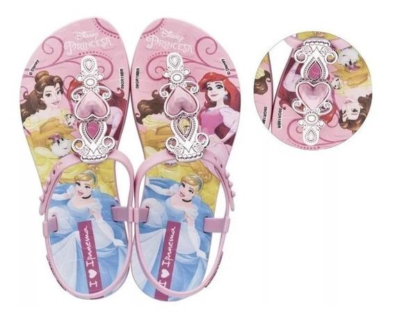 Sandália Chinelo Sapatilha Frozen, Ladybug, Barbie, Hello Kitty, Princesas, Lol Grendene Kids Ipanema Infantil Promoção