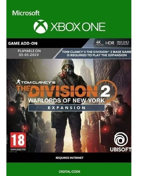 The Division 2 Expansão Warlords Of New York 25 Digitos Xbox