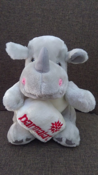 Usado: Pelúcia Rinoceronte Parmalat Original