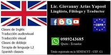 Clases De Inglés - Profesor Lingüista Lic.