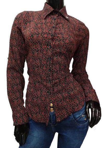 Blusa Formal-casual Con Diseño De Flores