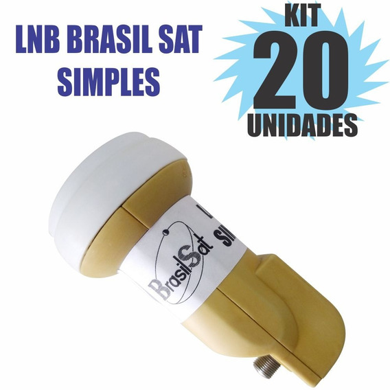 Kit 20 Peças Lnbf Ku Simples Universal Lnb Semi Novo