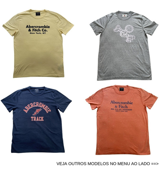 Camiseta Camisa Abercrombie Fitch Vários Tamanhos E Modelos