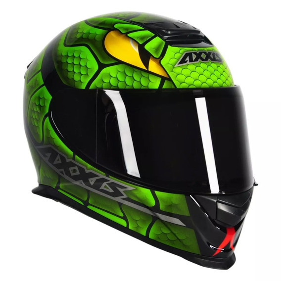 Capacete Axxis Eagle Snake Gloss Black/ Green
