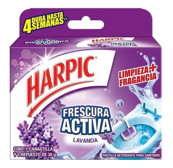Pastilla Sanitaria Harpic Frescura Activa Lavanda 35 Gr