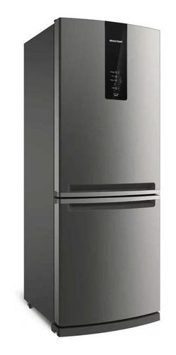 Imagem 1 de 6 de Geladeira frost free Brastemp BRE57A inox com freezer 443L 110V