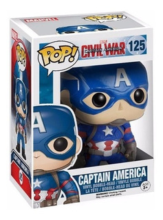 Figura Muñeco Funko Pop Marvel Civil War Capitan America 125