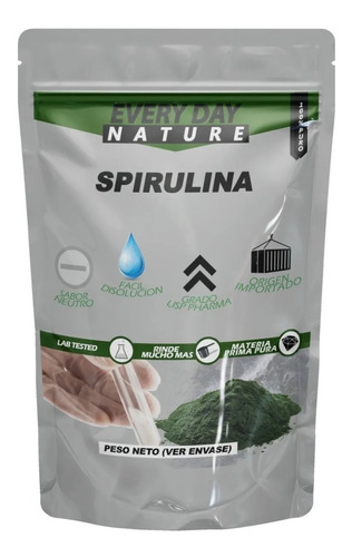 Imagen 1 de 3 de Spirulina Pura 500gr - Proteina Natural De Alga - Espirulina