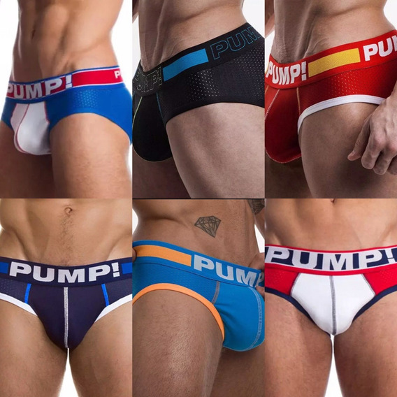Kit 3 Cuecas Pump Slip Mens Underwear Cód.h117